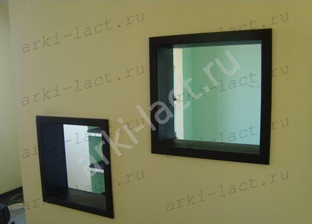Декоративные окна в межкомнатных перегородках